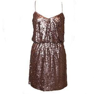 Aidan Mattox Bronze Sequin Dress